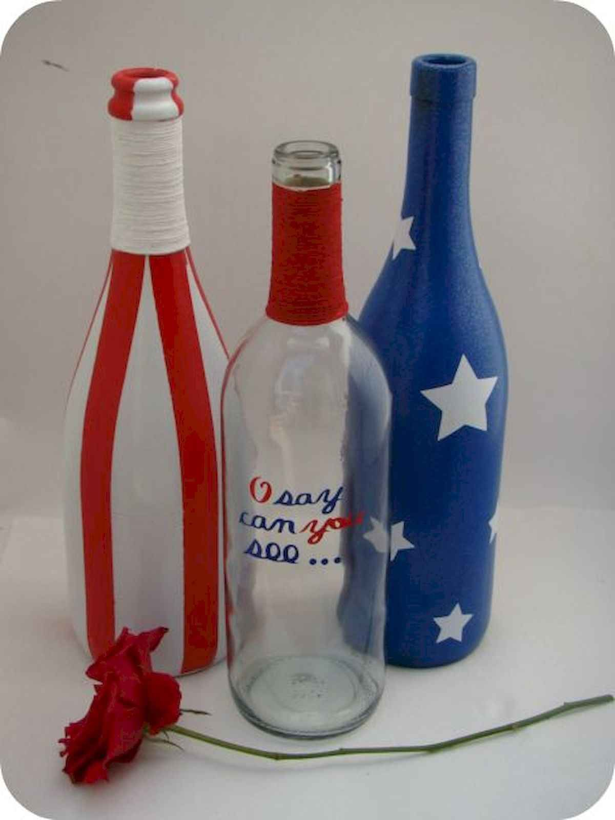 80 Diy America Independence Day Decor Ideas And Design Bottle Crafts Wine Bottle Diy Wine Bottle Crafts