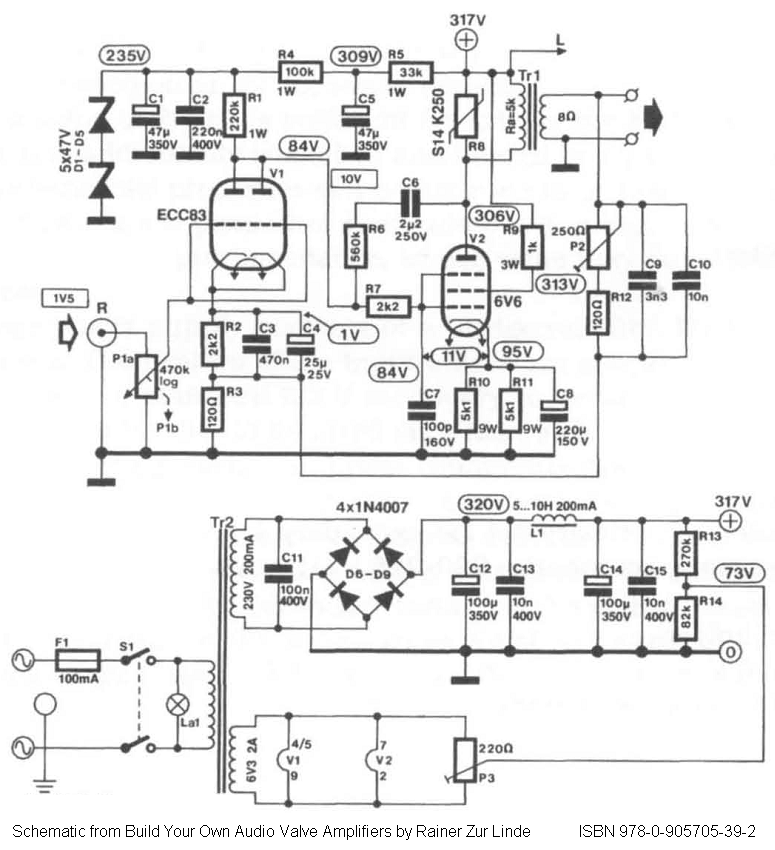 direct  6v6gt tube amplifier schematic