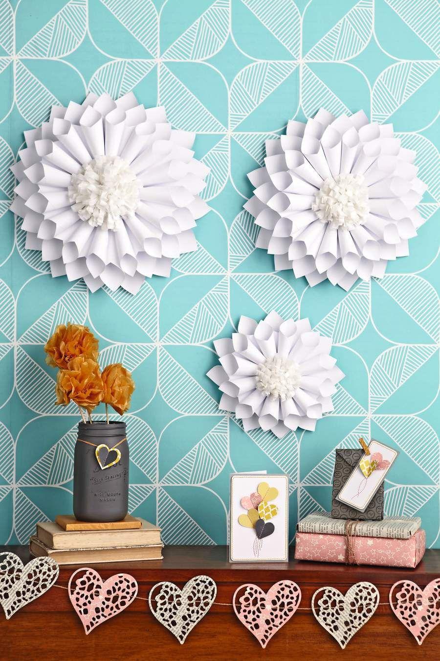 Paper Crafts Pom Flowers