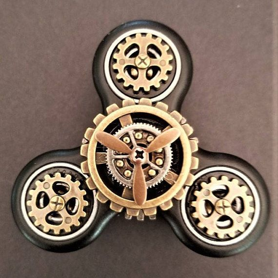 Fid Spinner Double Decker pass & Propeller Steampunk Fid