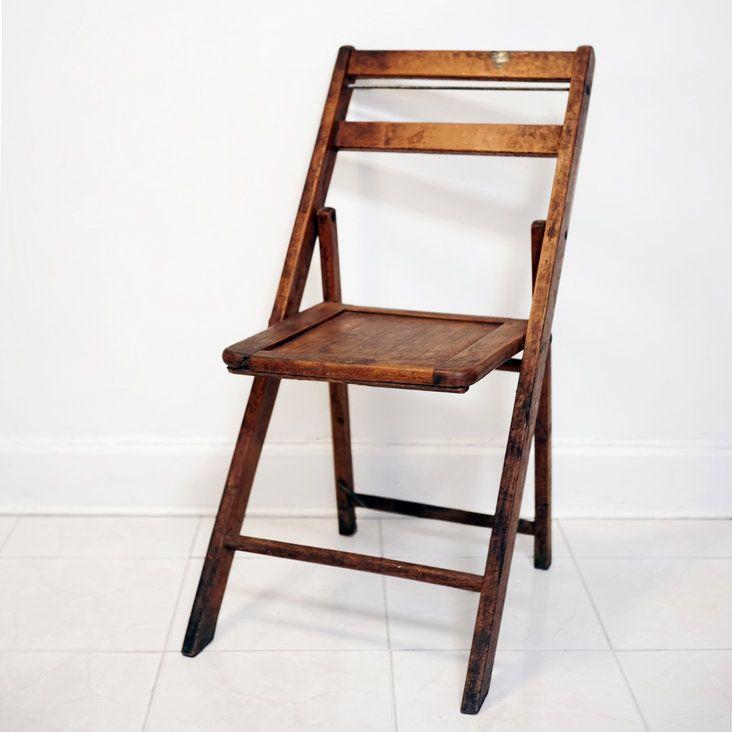 Vintage Wooden Folding Chair Wood Fold Up Chair In Lower Manhattan,  Manhattan ~ Krrb Classifieds