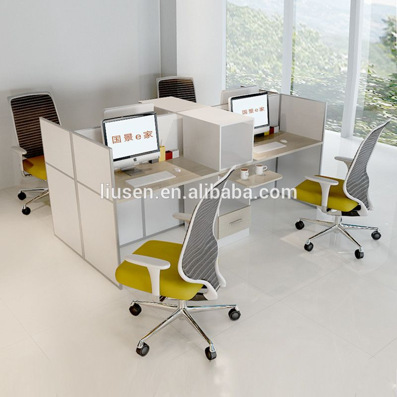 modern design latest office furniture open style office 3 Person Office Desk 4 Person Workstation