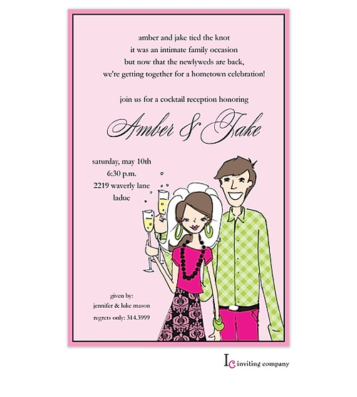After the Wedding Party Invitations or Elopement Party Invitations – Passion Party Invitation Wording