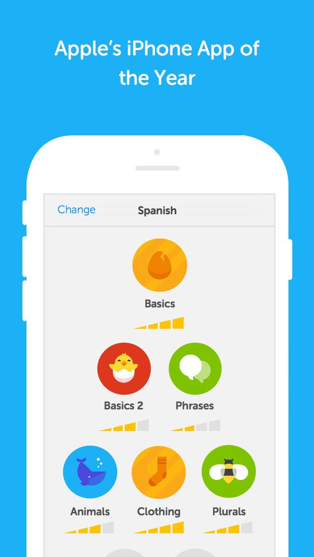 gamified apps Google Search Learning italian, Duolingo