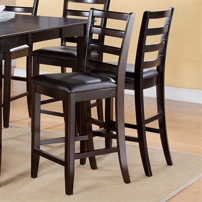 East West Furniture FC-CAP Fairwinds Ladder Back Stool (Set of 2) $152