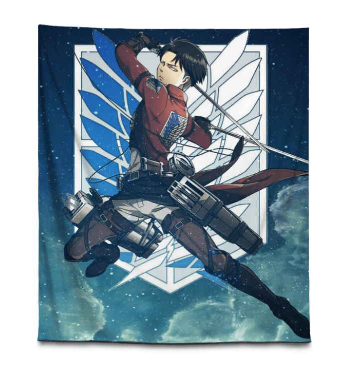 Photo of Attack On Titan Tapestry Levi Ackerman Wings of Freedom AOT Gift For Anime Fans