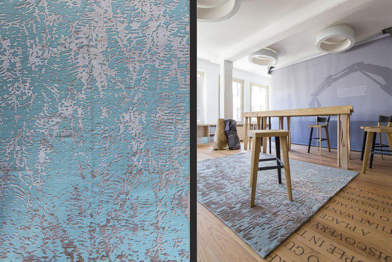 tappeto contemporaneo natral lana e seta mis300x205 CM