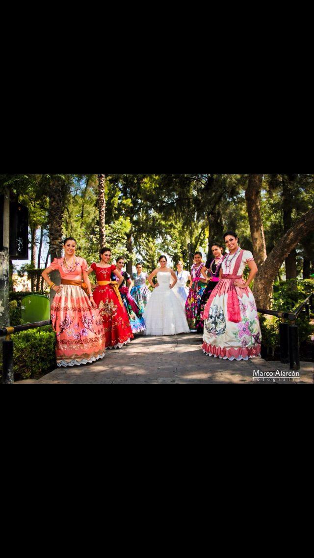 damas de honor de una boda charra | BODA | Pinterest | Mexicans ...