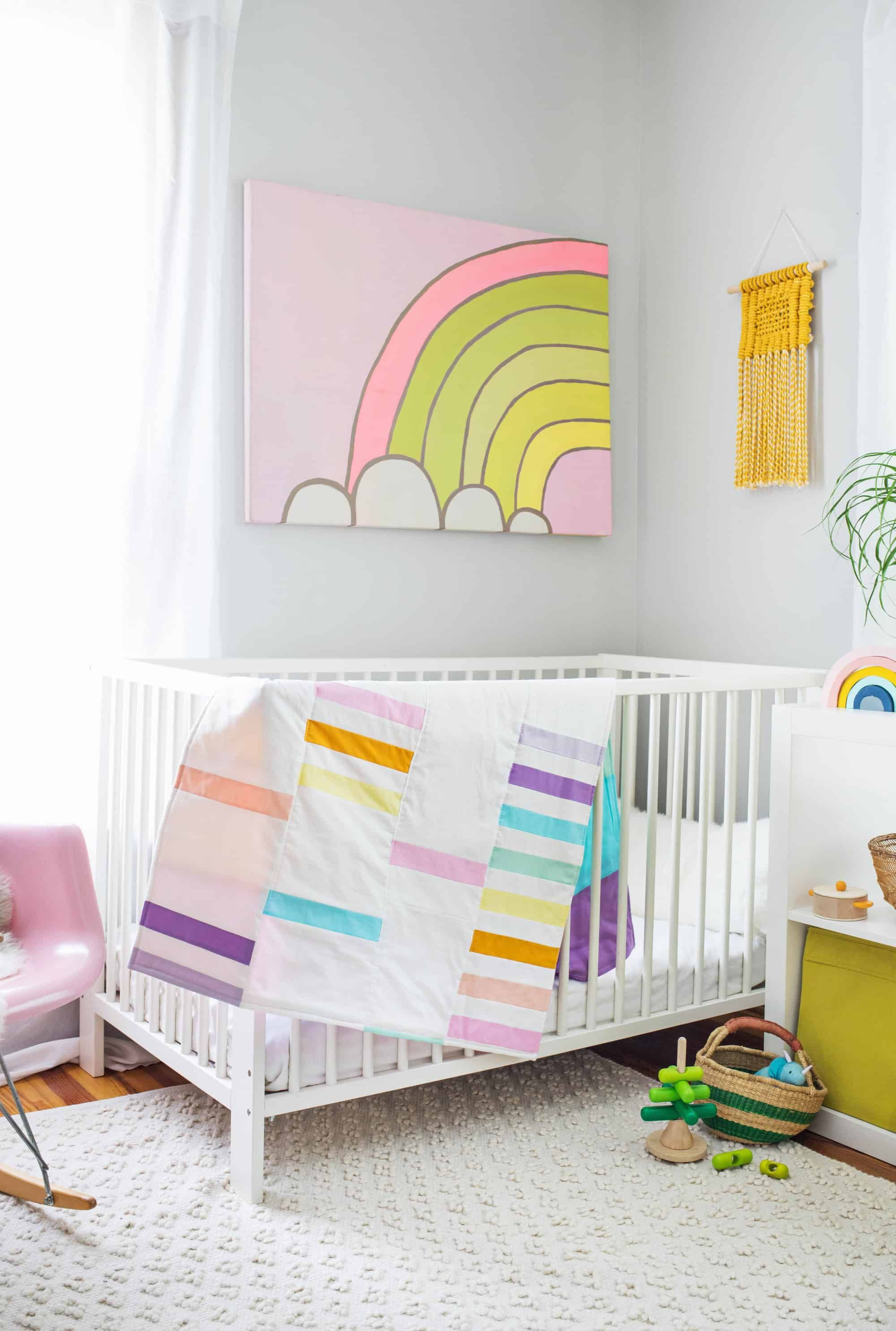 Modern Pastel Crib Quilt Diy  A Beautiful Mess