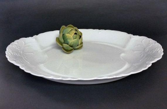 Large Habsburg China Mz Austria Serving Platter Pure White Austria