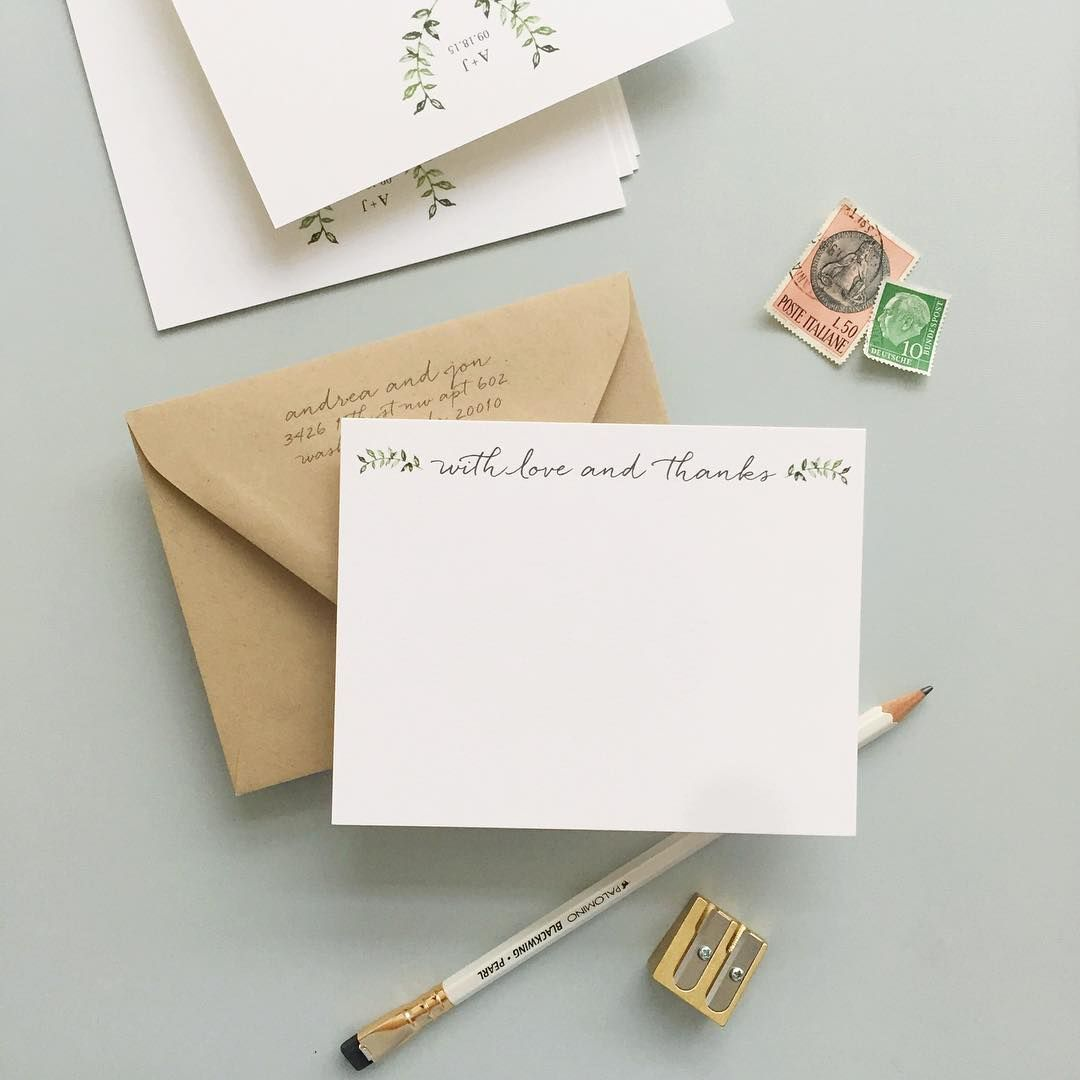 sweetest wedding thank you notes