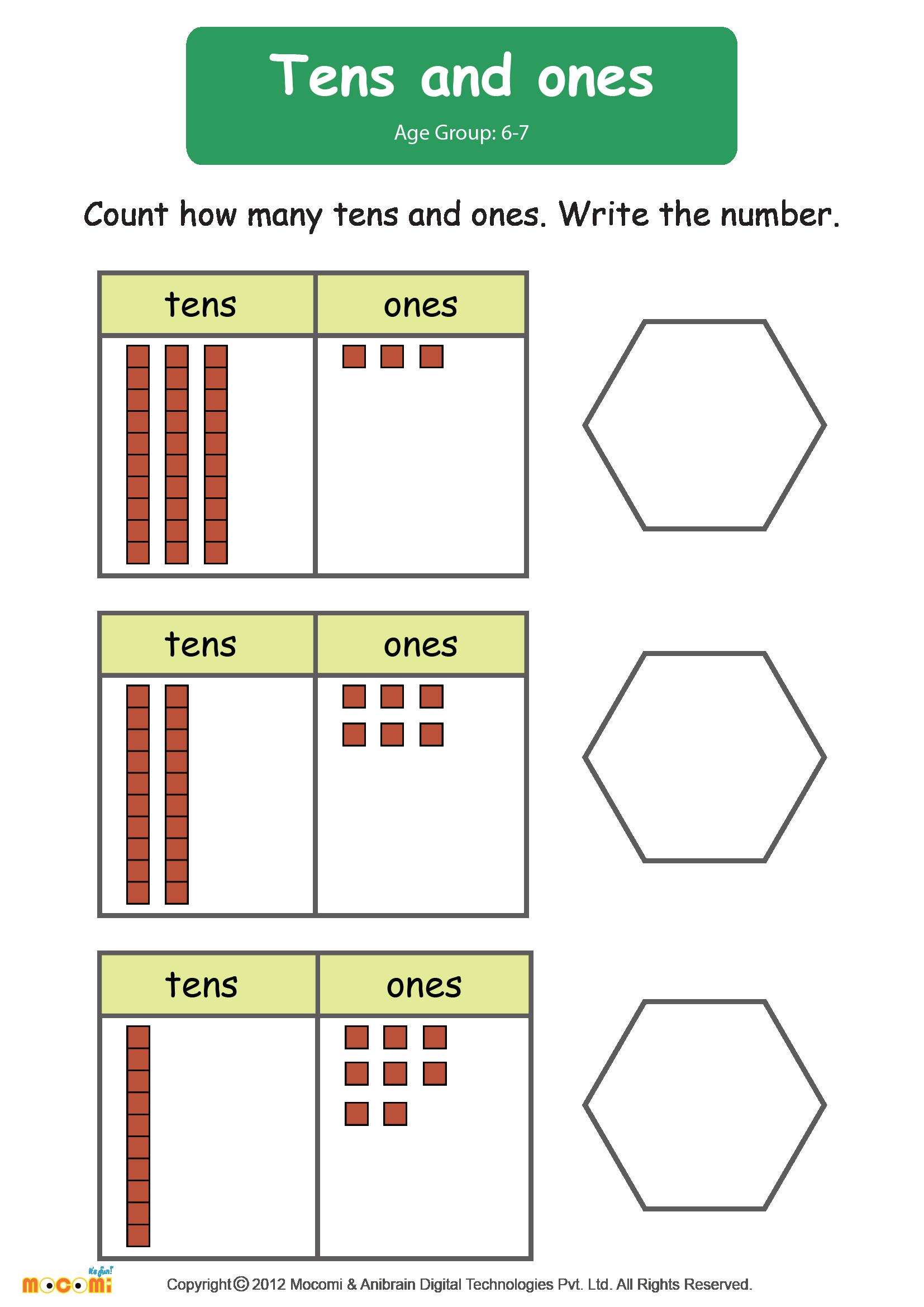 Tens And Ones Worksheet Math For Kids Mocomi Kids Math Worksheets Tens And Ones Worksheets Kindergarten Worksheets [ 2339 x 1654 Pixel ]