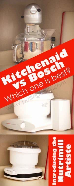 Nutrimill Artiste ~ Bosch Universal ~ Kitchenaid Professional    Which One  Is The Best For