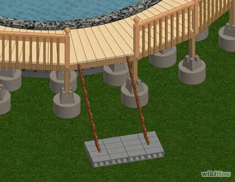 Build a deck around an above ground pool pool outdoors - Steps to build an inground swimming pool ...