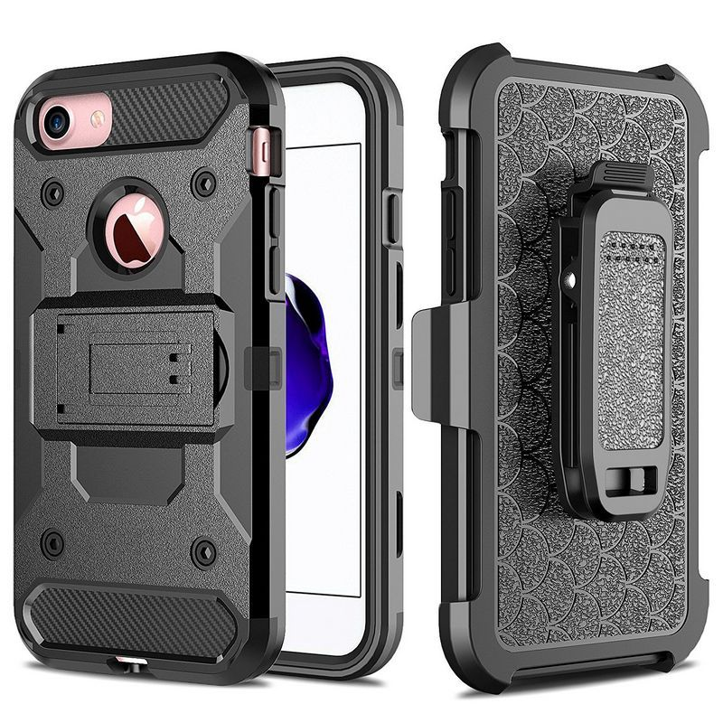 For iPhone 7 7plus Case 5 5s 6 6s plus Armor Hybrid Case Belt Clip