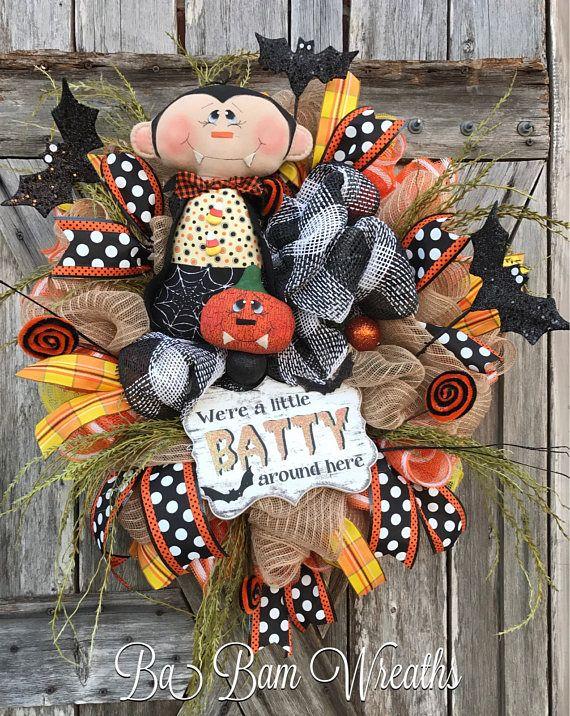 Halloween Mesh Wreath Vampire Wreath Halloween Wreath wreathes