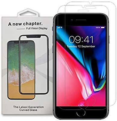 save off 8dd76 d15b4 Amazon.com: iPhone 8 Plus, 7 Plus, 6 Plus Screen Protector, Tempered ...