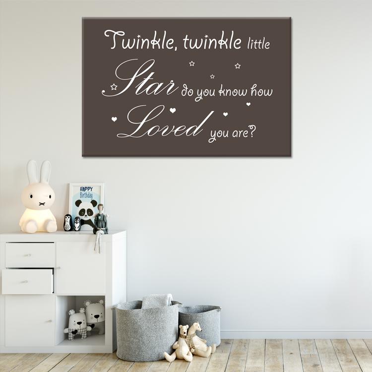tekst op canvas - twinkle twinkle | babykamer teksten | pinterest, Deco ideeën