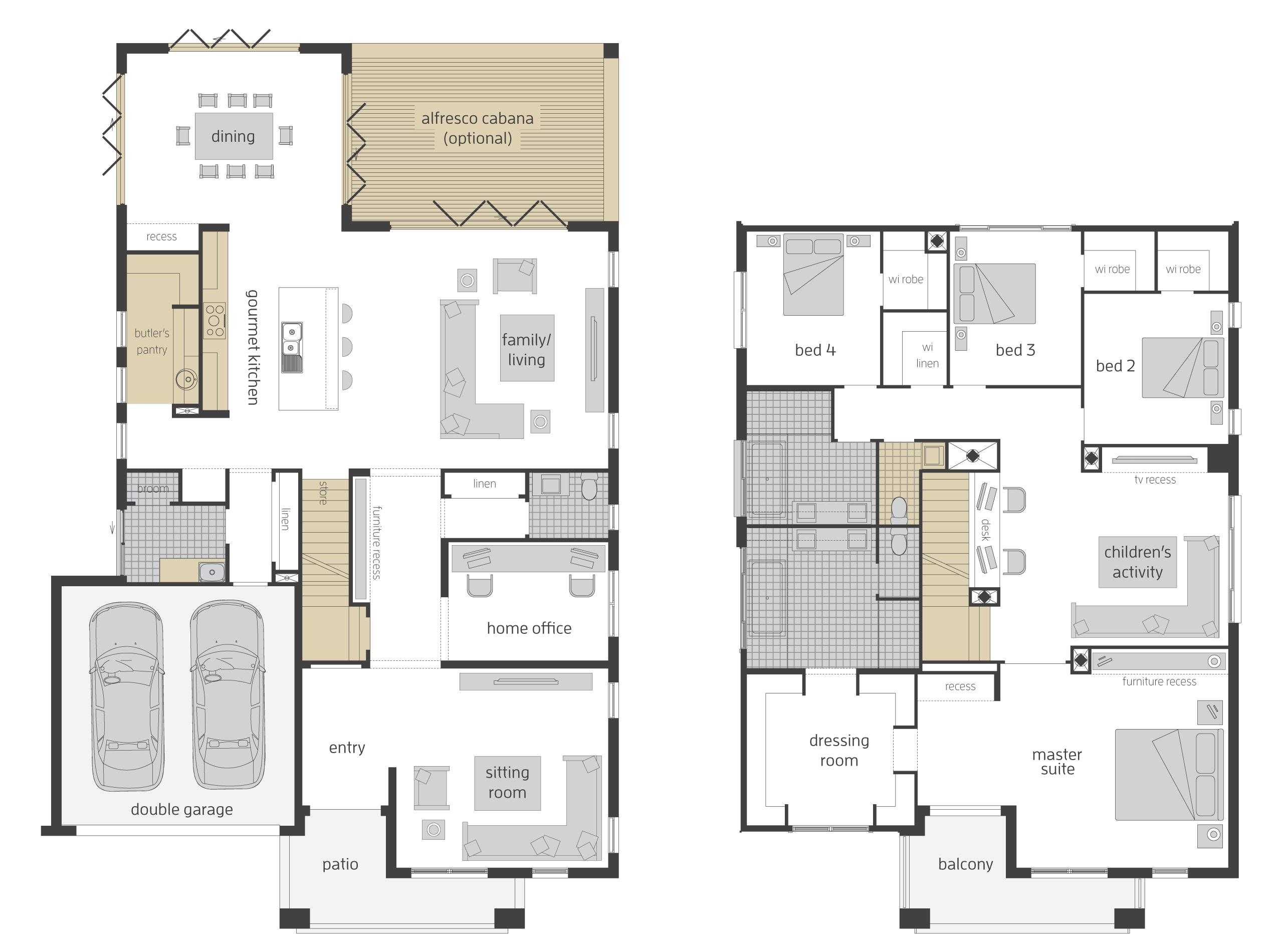 Tallavera Floorplans Double Storey House Plans Two Storey House Plans Dream House Plans