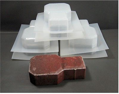NEW 6 Pc. Keystone Driveway Patio Paver Concrete Molds Stone Cement Moulds