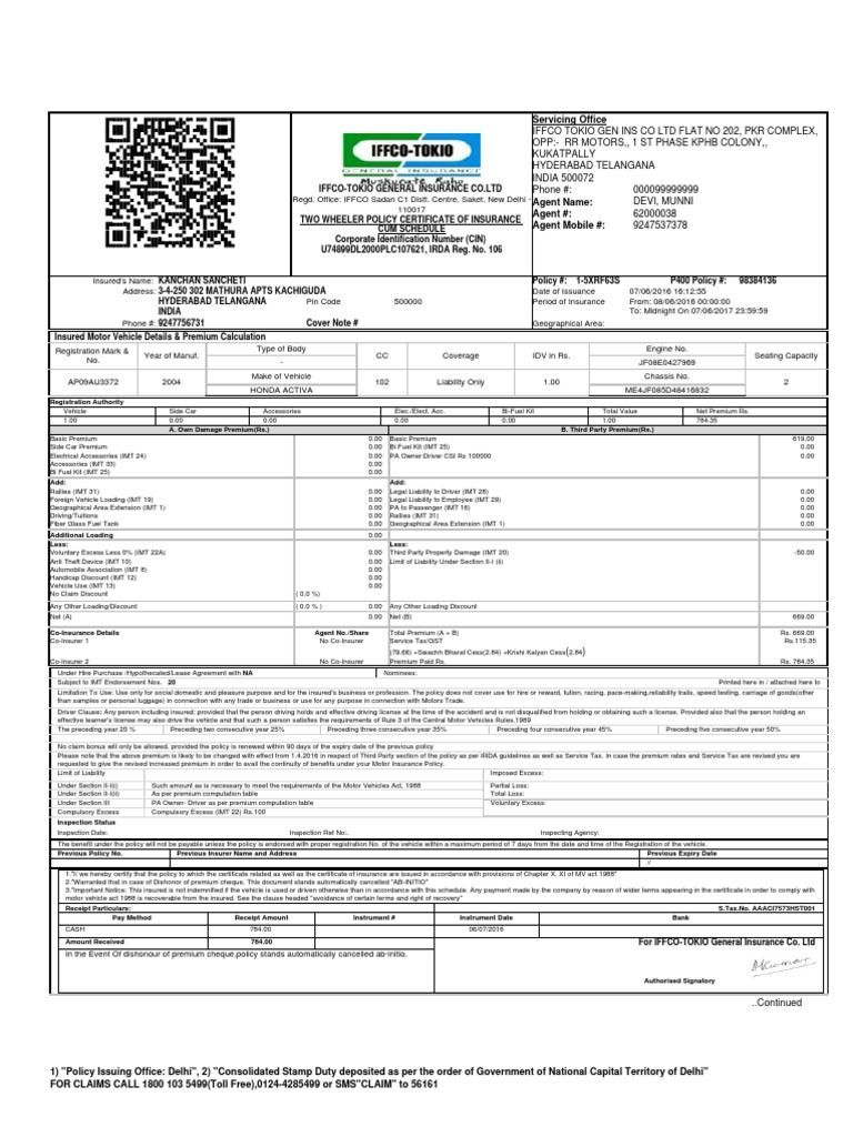 Image result for iffco tokio two wheeler insurance