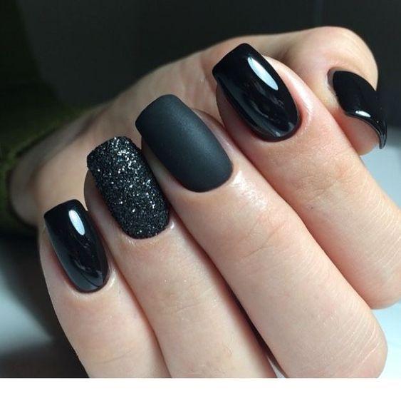 Love The Black Nails Inspiring Ladies Nails Stylish Nails Toe Nails