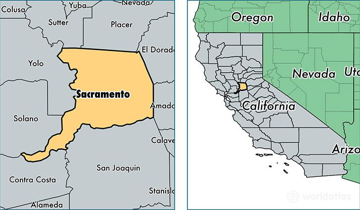Sacramento County California Map Of Sacramento County Ca