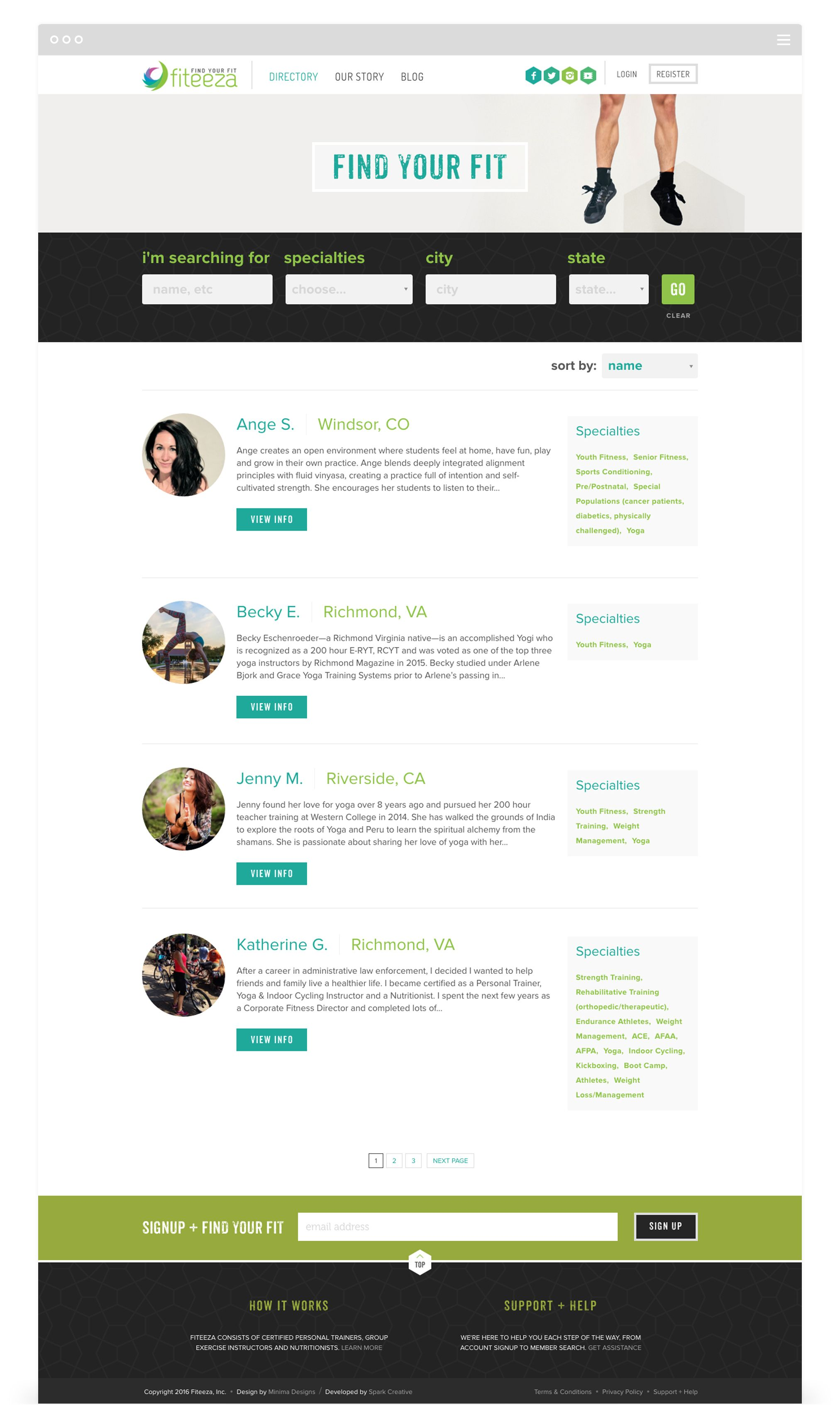 Website Development For Fiteeza By Second West With Images Website Development City State Finding Yourself