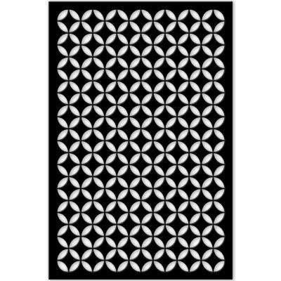 Acurio Latticeworks Morrish Circle 32 In X 4 Ft Black Vinyl Decorative Screen Panel 3248pvcbk Moorcir The Home Depot In 2020 Decorative Screen Panels Decorative Screens Vinyl Decor