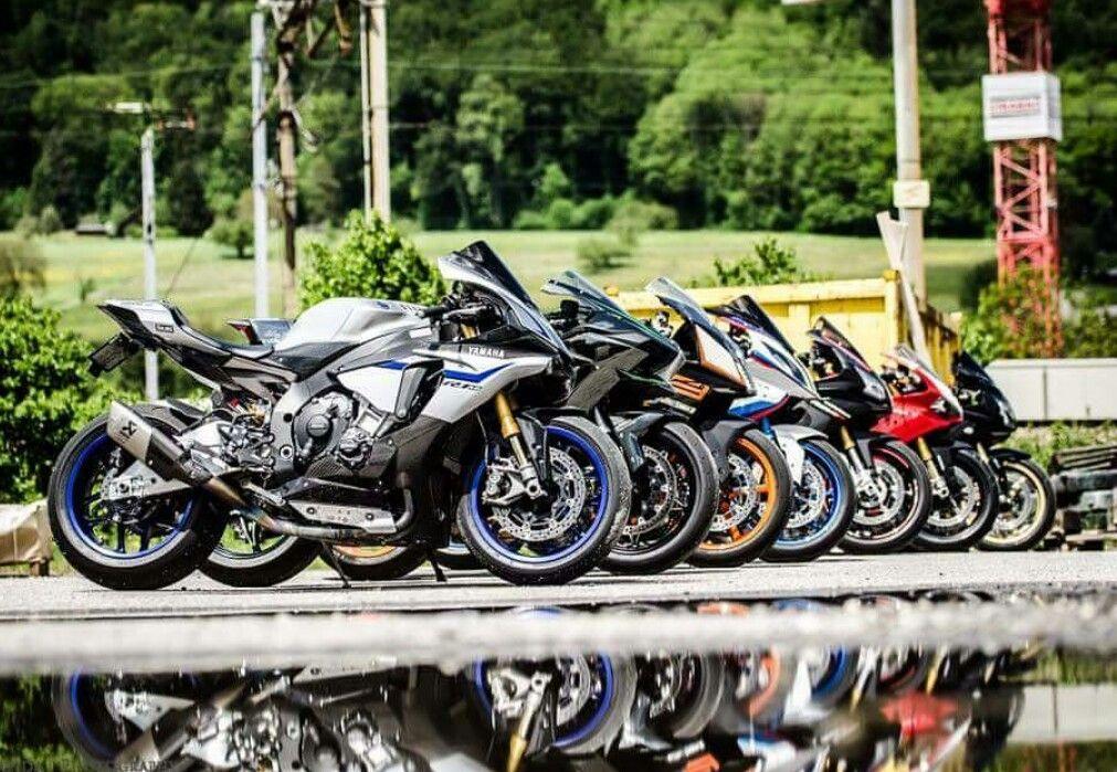Yamaha R1m Vs Kawasaki H2 Vs Ktm Rc8 Vs Bmw S1000rr Vs Aprilia