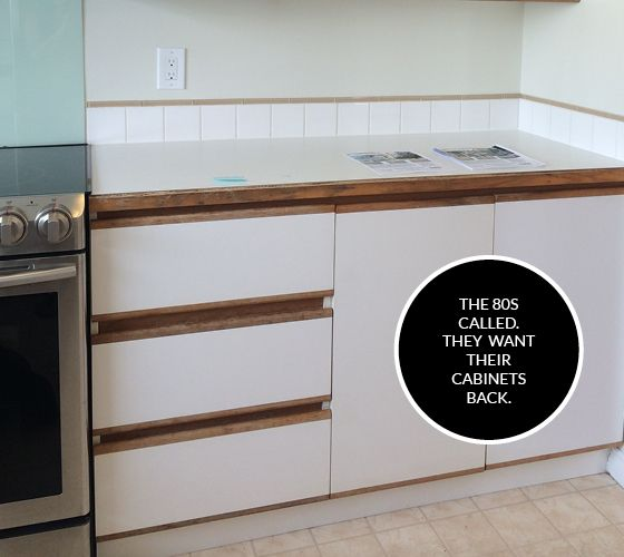 Diy 80s Kitchen Cabinet Makeover Kitchen Melamine Cabinets