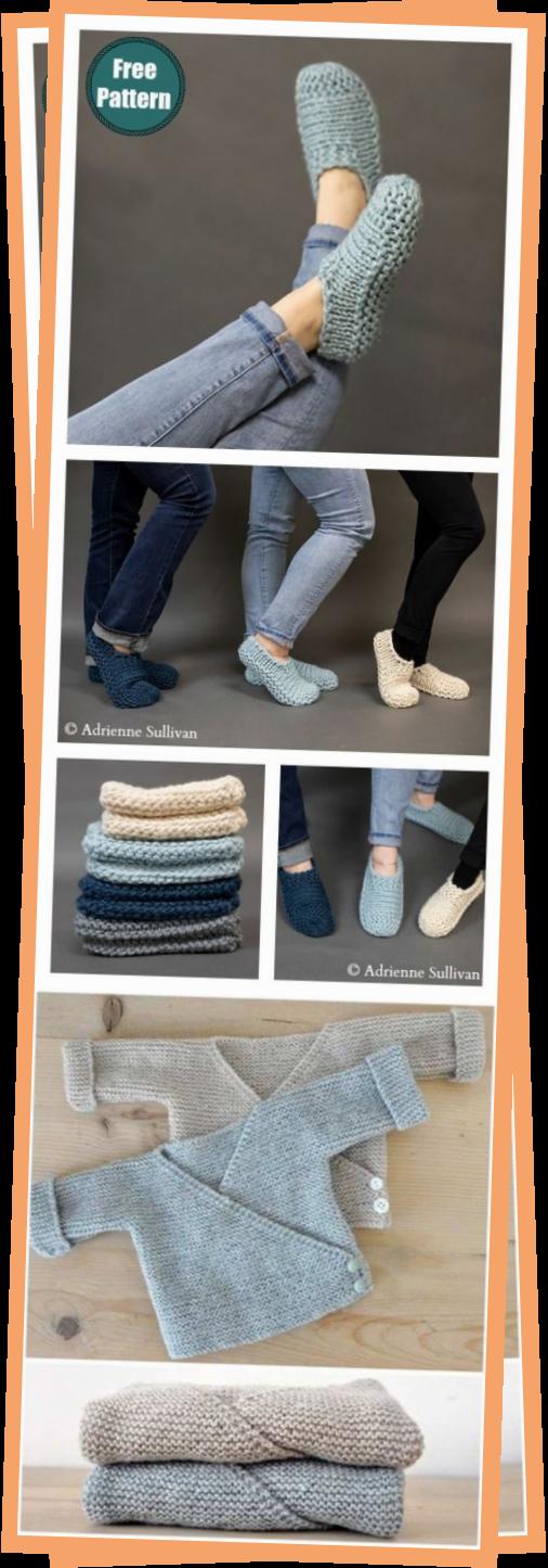 Photo of Easy Slippers Free Knitting Pattern For Beginner