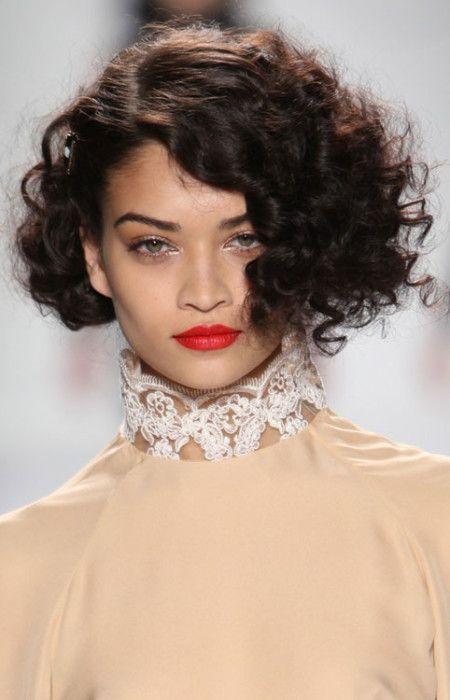 Short Runway Hairstyle Ideas 2016 Trends Short Curly Haircuts Haircuts For Curly Hair Curly Hair Styles