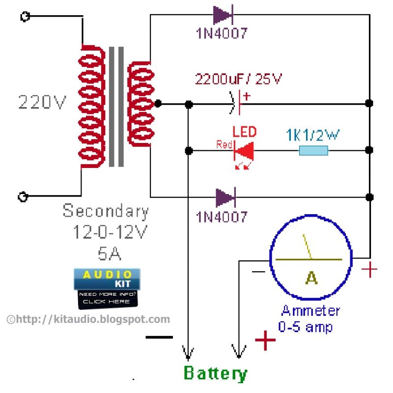 12v Battery Charger With Images Battery Charger Circuit