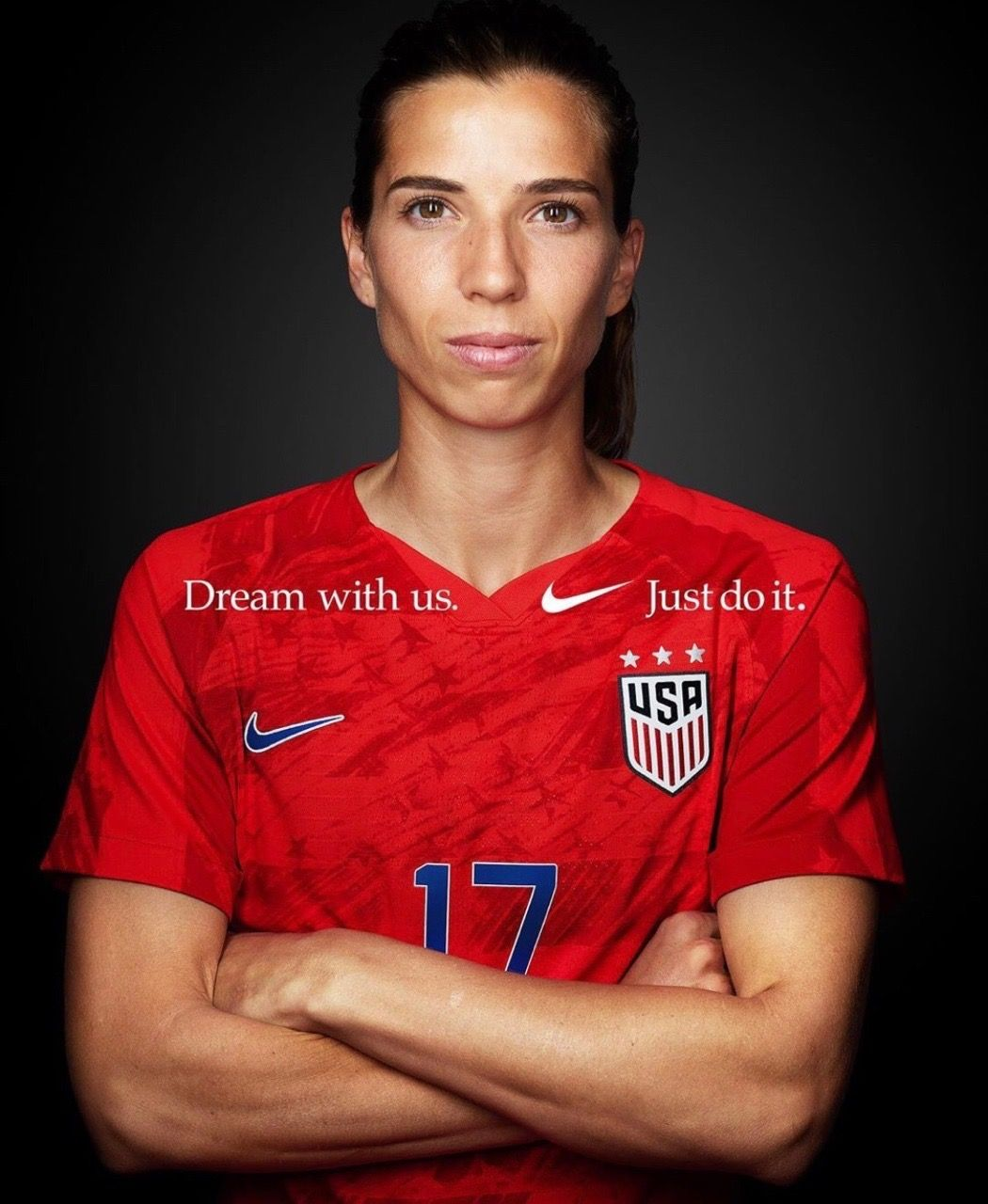 "Tobin Heath, USWNT 2019 World Cup team, Nike's ""Dream With"
