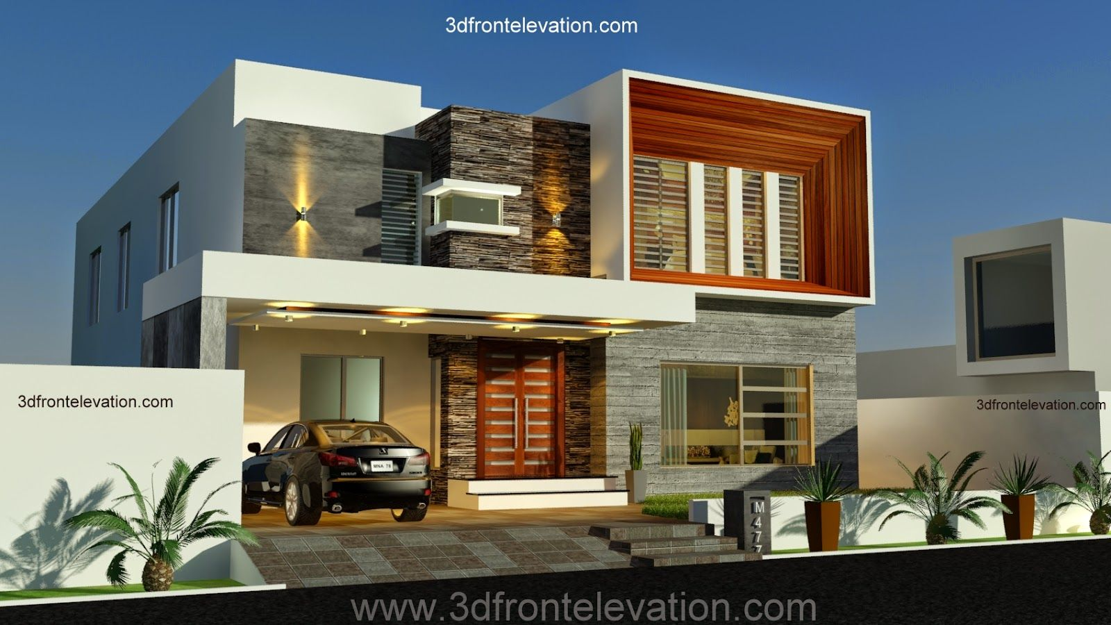 3d front elevation new 1 kanal contemporary house design in contemporary new contemporary home designs