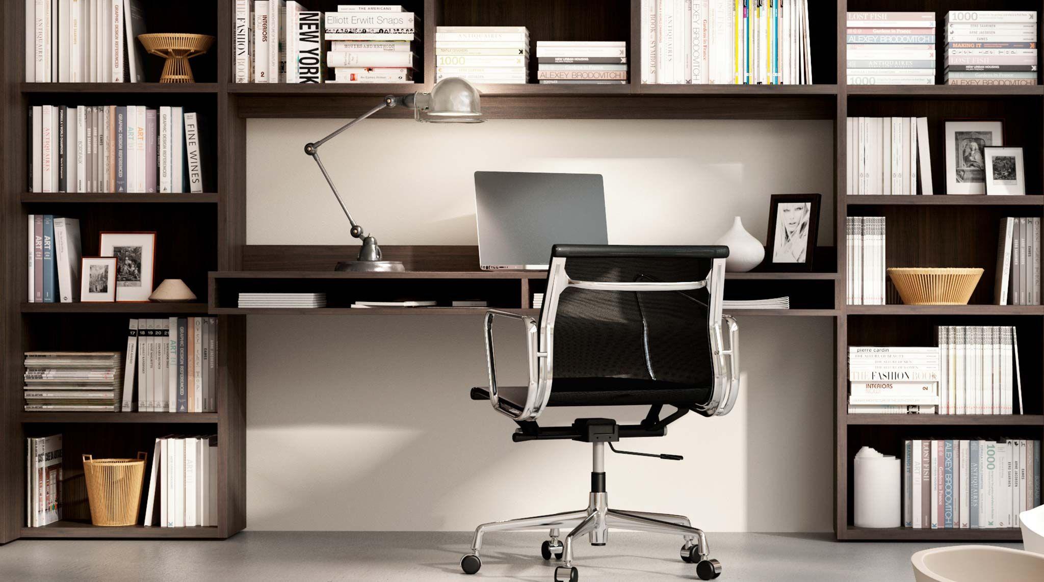 Libreria componibile a parete Systema-P | Office - Wood & darks
