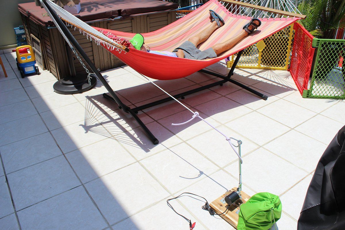 Automatic swinger for hammocks just one