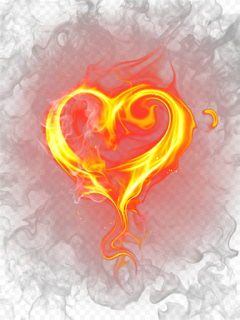 Burning Heart Fire Flame Border Love Illustration Citypng Love Illustration Love Png Banner Background Images
