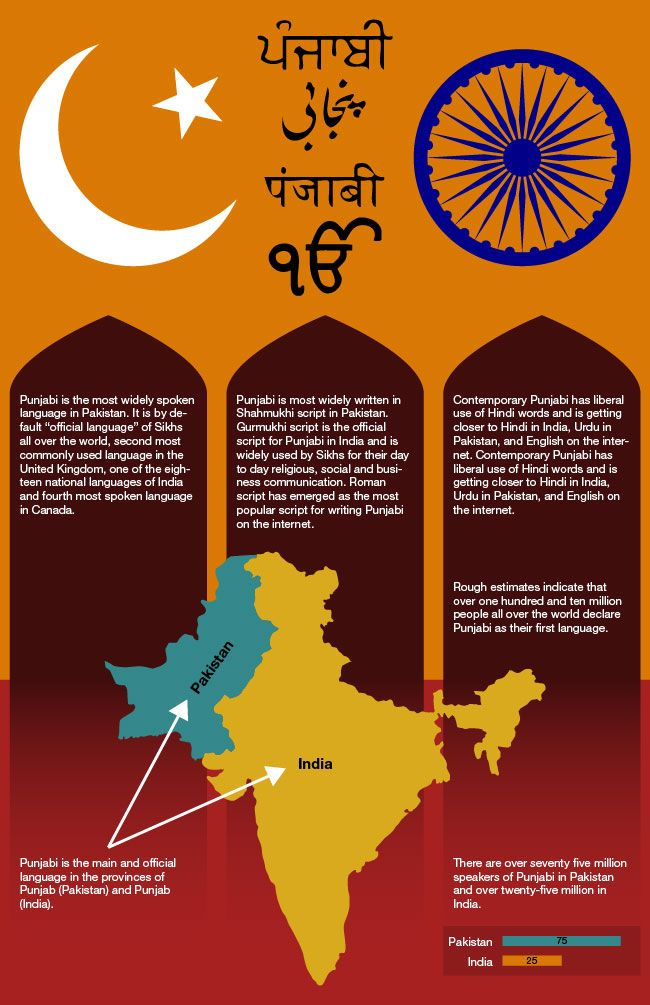 Punjabi Language Infographic Http Www Mapsofworld Com Pages Tongues Of World Infographic Infographic Of Punj Educational Infographic Language World Languages