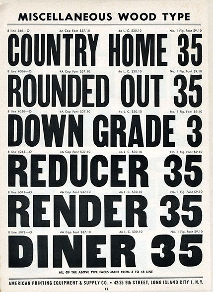Letterpress Daily American Wood Type Mfg Co Types Of Lettering Vintage Typography Wood Type Poster