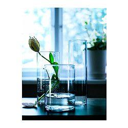 Set Di 3 Vasi Cylinder Vetro Trasparente Arredo Interni Vasi