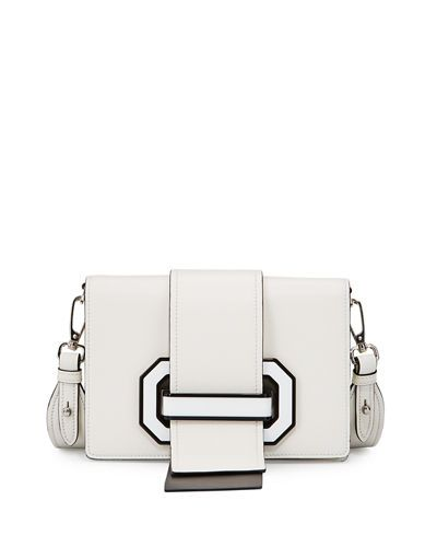 Prada White plex ribbon Leather shoulder bag Real Online Buy Cheap Manchester Cheap Exclusive 100% Guaranteed EBEG2xPbH