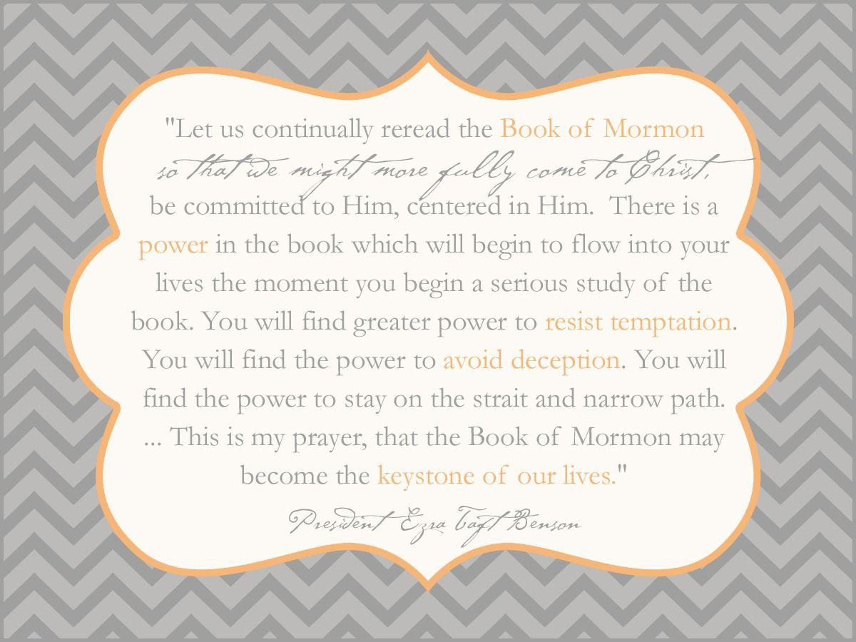 Book Of Mormon Quotes Book Of Mormon Keystone Benson  Testimony  Pinterest  Books