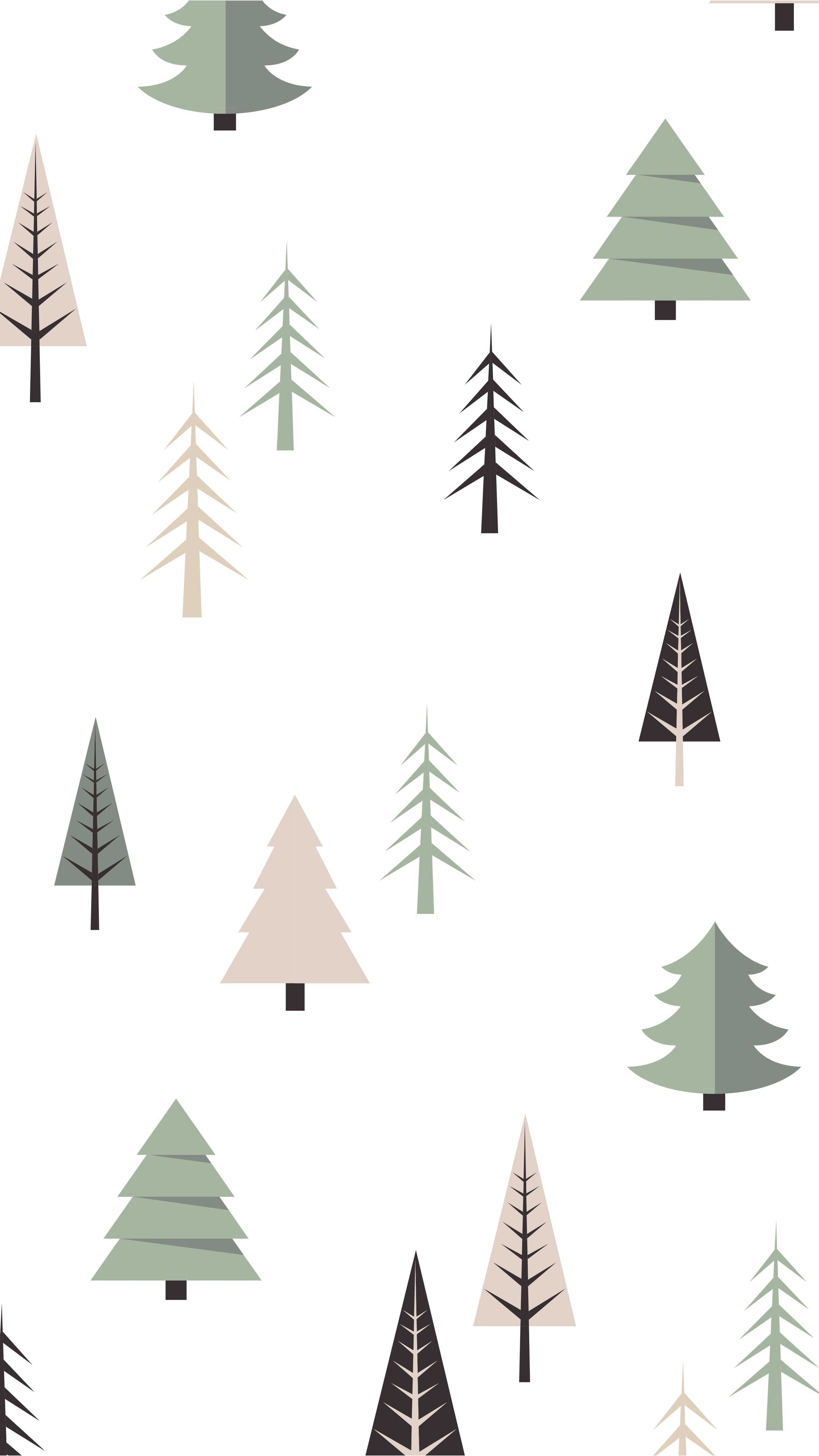 Winter Holiday Phone Wallpaper | Free Phone Background This Christmas | Modern Holiday Tree Pattern