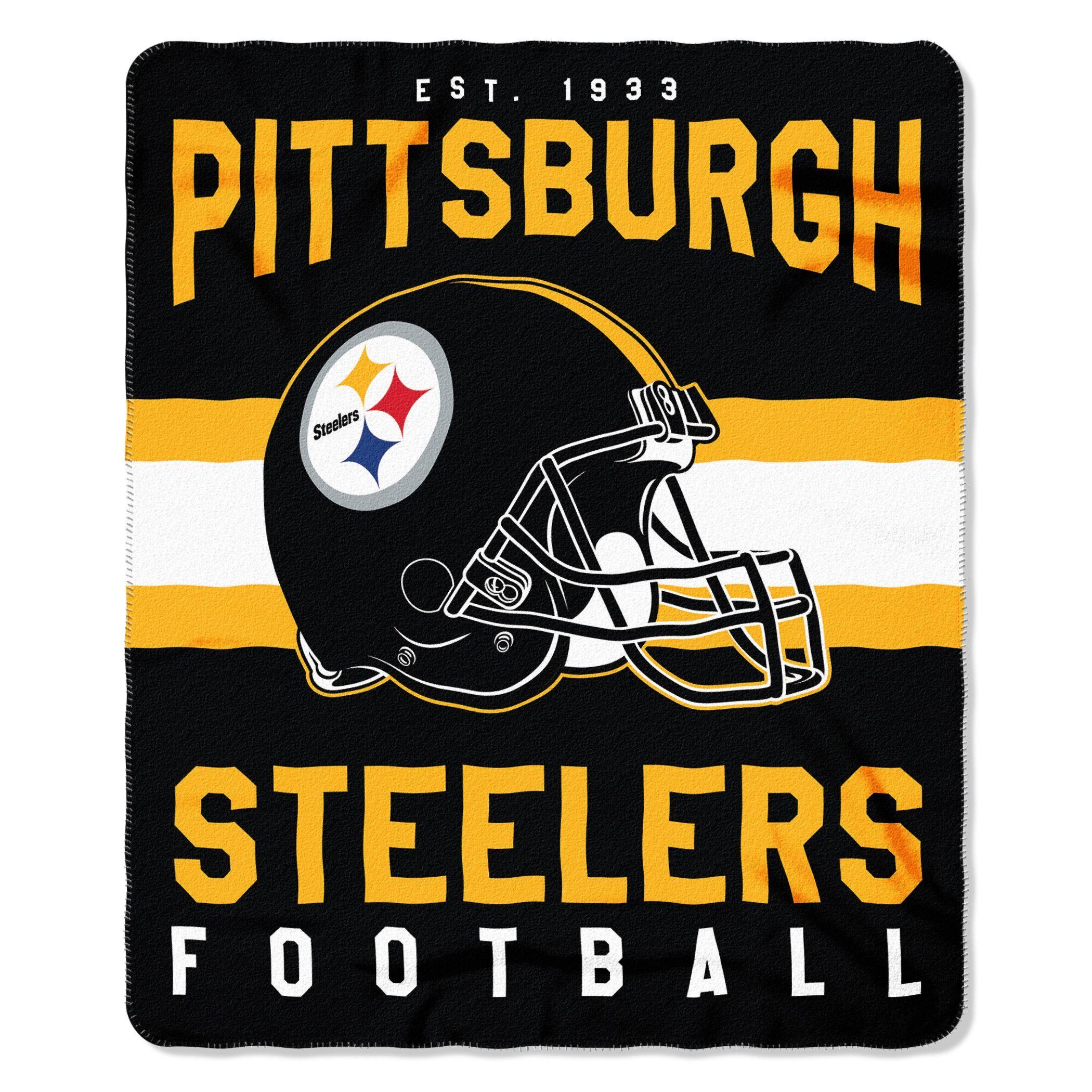 New! Pittsburgh Steelers Blanket 50x60 Fleece Singular Design #PittsburghSteelers
