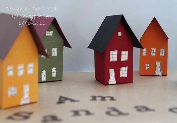 Häuser aus Milchkartons Anleitungen Pinterest Basteln, Milchkarton basteln und Karton