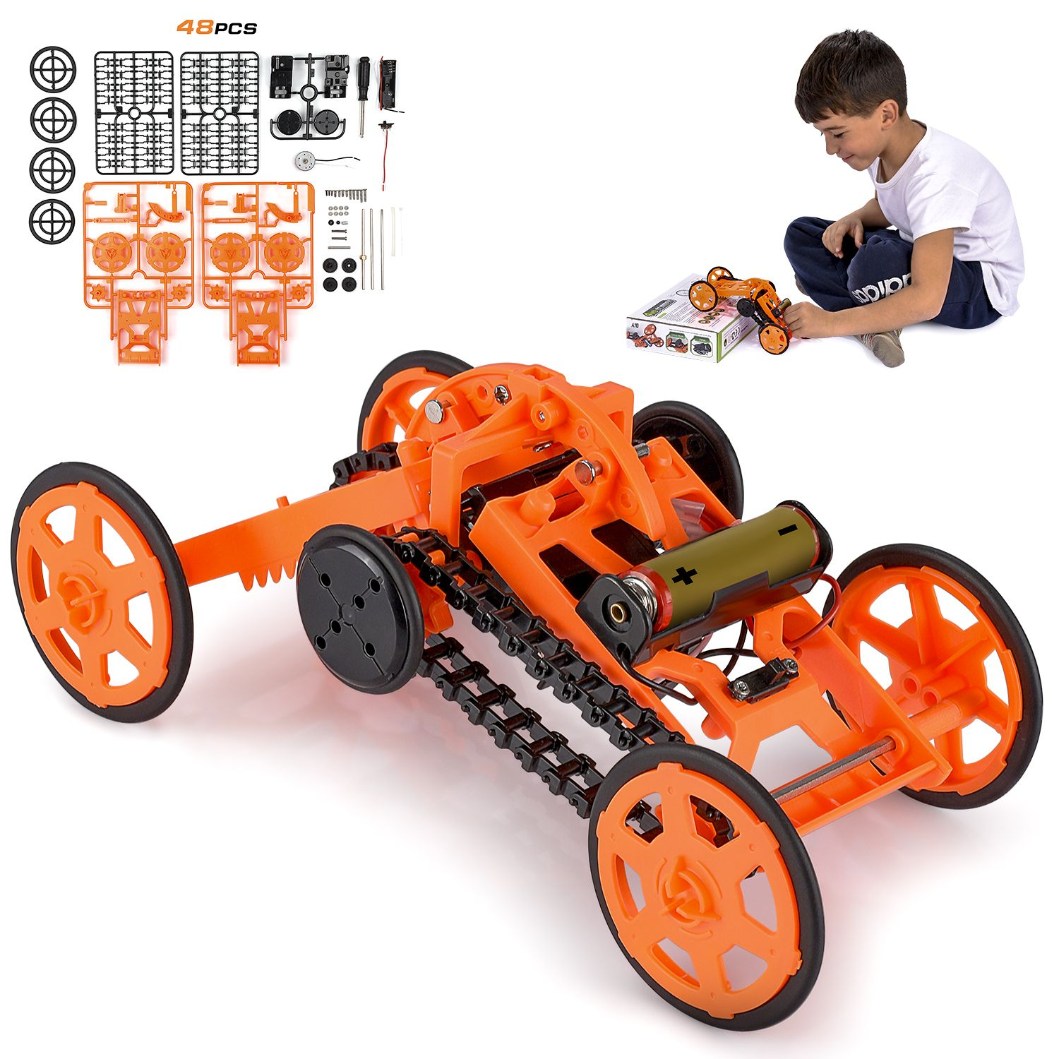 Engineering stem diy car assembly gift toy for boys kids