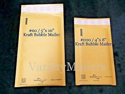 (Ad)eBay Url - 20 Kraft Bubble Envelope Combo ~ #00/ 5x10 & #000/ 4x8 ~ Padded Mailers