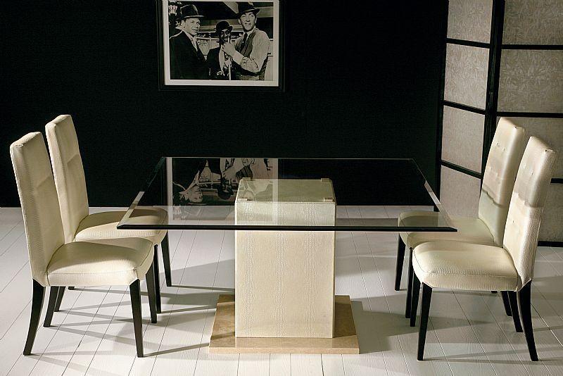 amazing dining table glass top stone base … | stone | pinterest